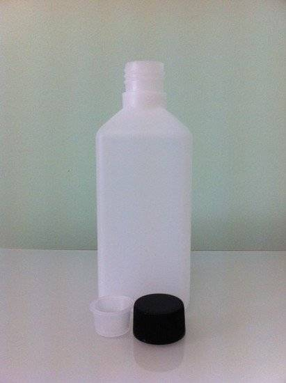 500ml Square HDPE Bottles